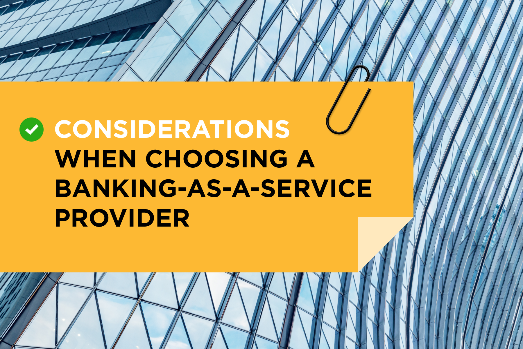 Considerations for a Baas Provider
