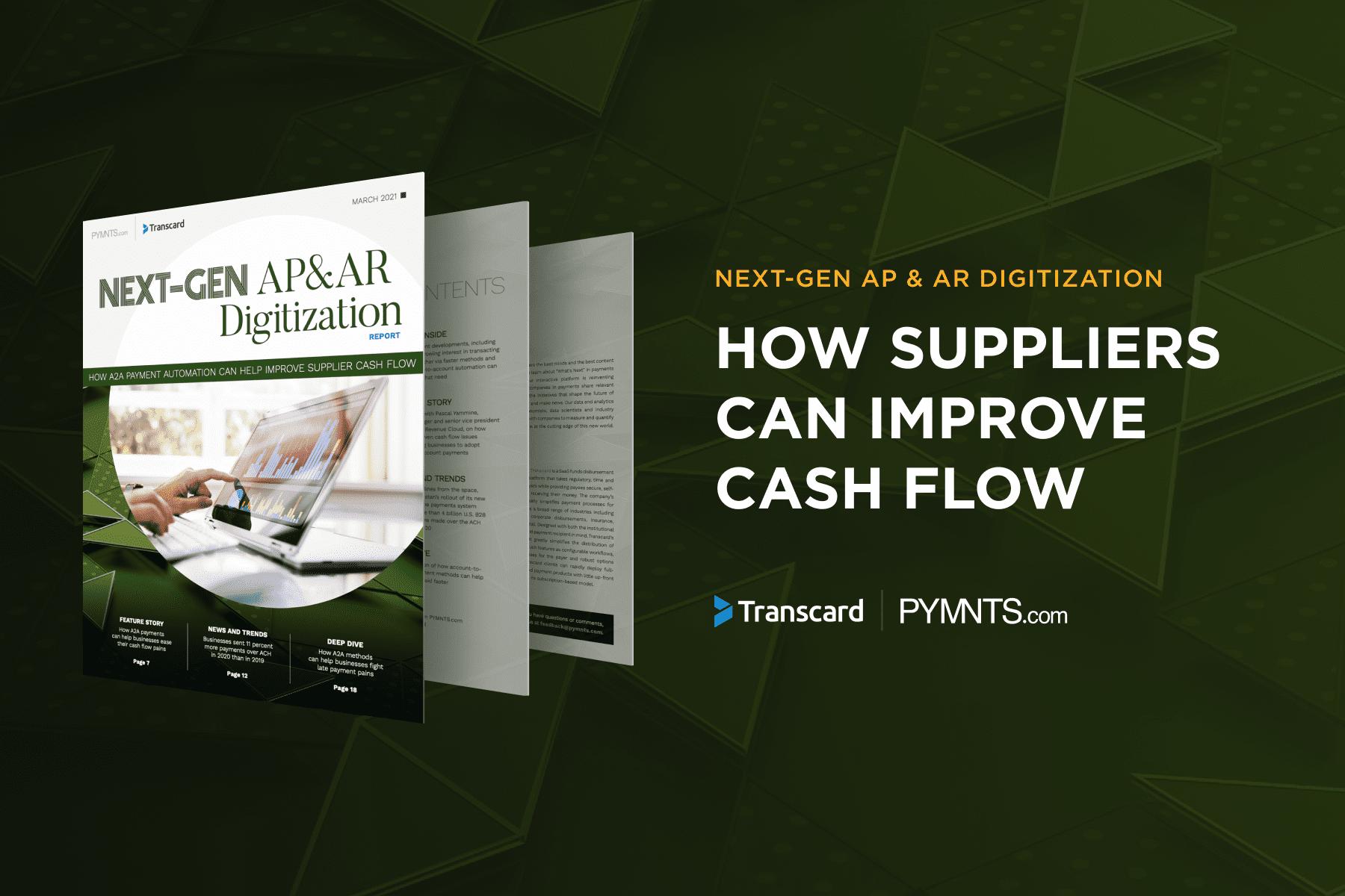 improve supplier cash flow
